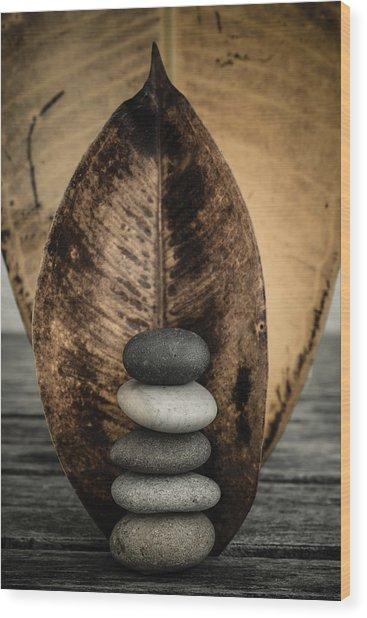 Zen Stones II Wood Print