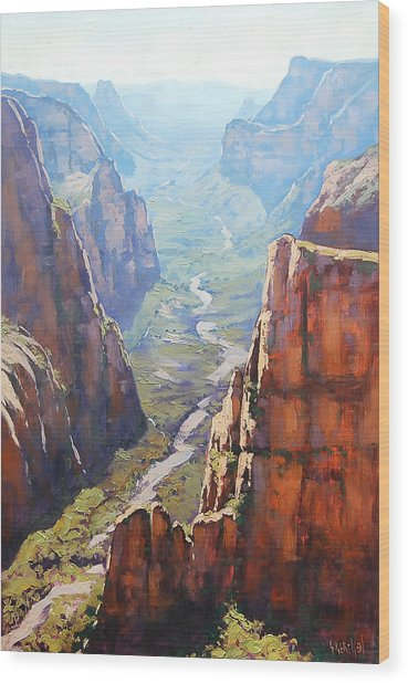 Zion Canyon Wood Print by Graham Gercken