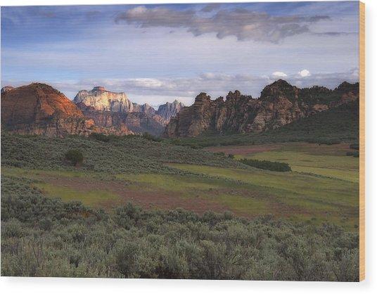 Zion National Park Utah Wood Print by Utah Images