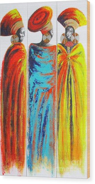 Zulu Ladies 2 Wood Print