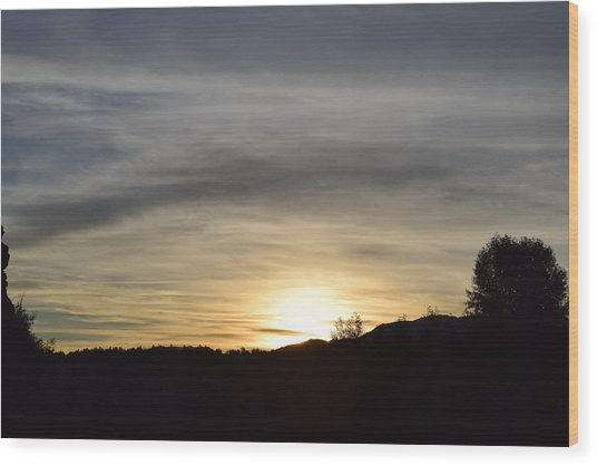 Sunrise Back Country Co Wood Print
