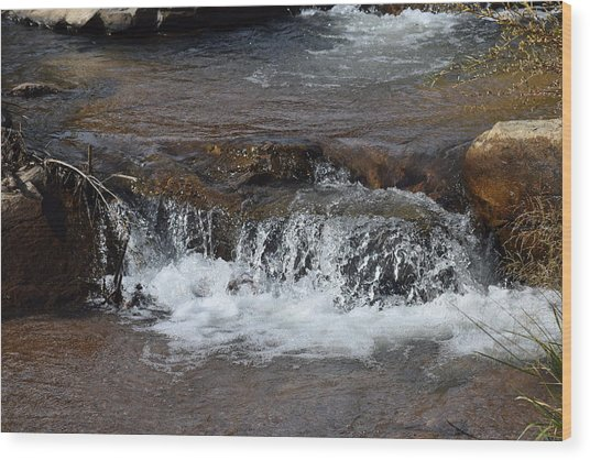 Waterfall Westcliffe Co Wood Print
