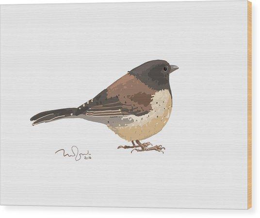 Bird Wood Print by Penko Gelev