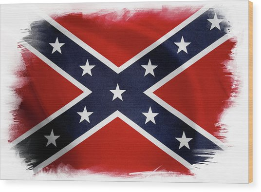 Confederate Flag 10 Wood Print
