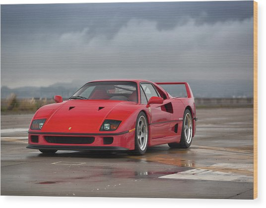 Wood Print featuring the photograph #ferrari #f40 #print by ItzKirb Photography