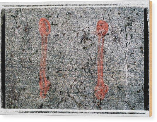 Abstract 87 Wood Print