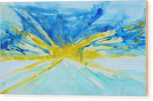 Memory Of A Sunrise Wood Print