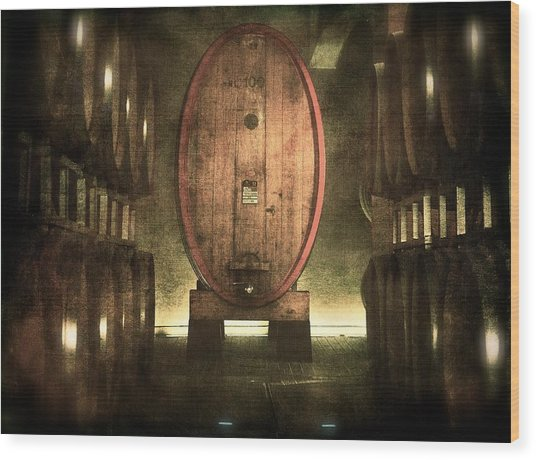 100 Hl - Italian Red Wine Wood Print