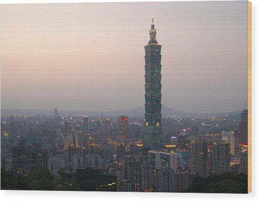 101 Tower Wood Print