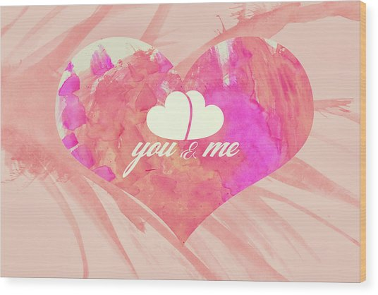 10183 You And Me Wood Print