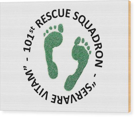 101st Rescue Squadron Wood Print