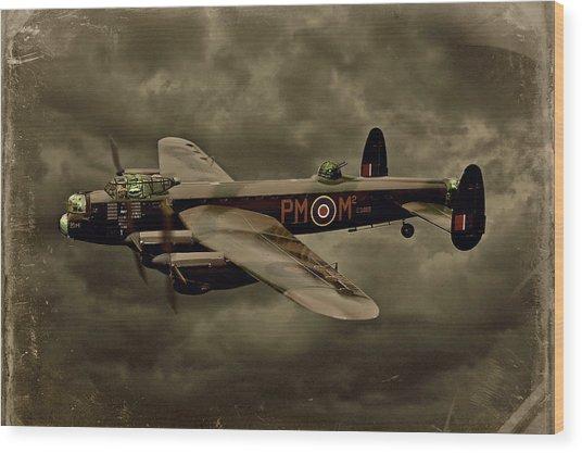 103 Squadron Avro Lancaster Wood Print
