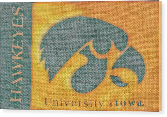 10720  Iowa Hawkeye Wood Print