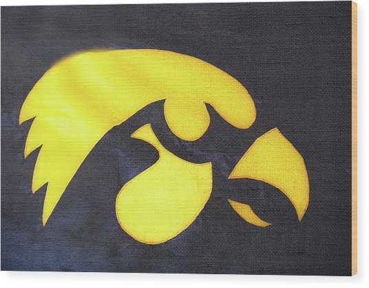 10724  Iowa Hawkeye Wood Print