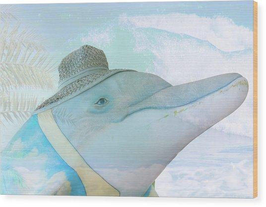 10732 Flipper Wood Print