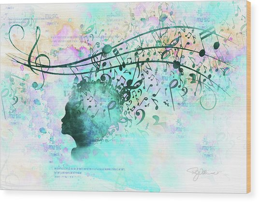 10846 Melodic Dreams Wood Print