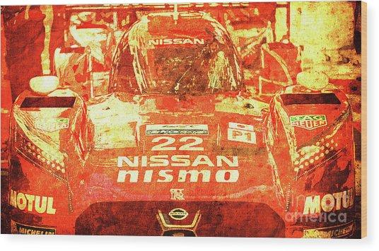 109 - Nissan Le Mans 2015 Wood Print