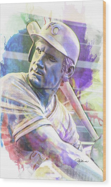 10929 George Brett Wood Print
