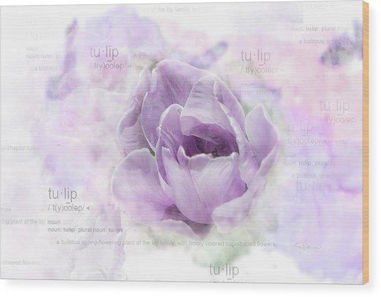 10947 Tulip Wood Print
