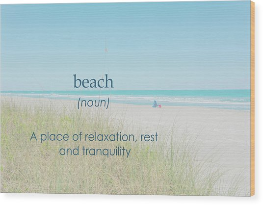 10967 Beach Tranquility Wood Print