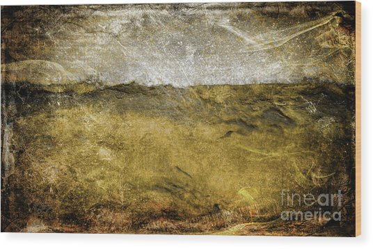 10b Abstract Expressionism Digital Painting Wood Print