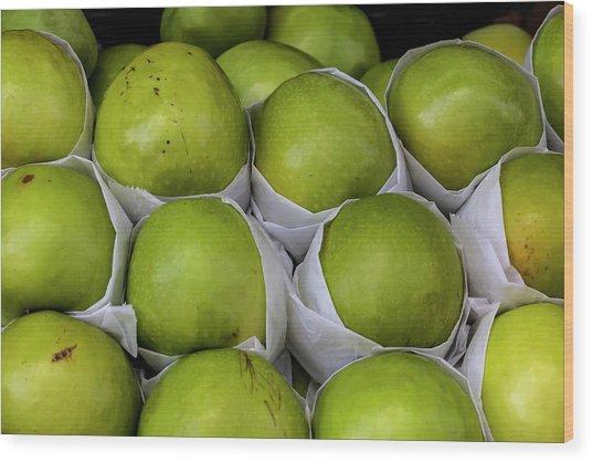 Apples Wood Print by Robert Ullmann