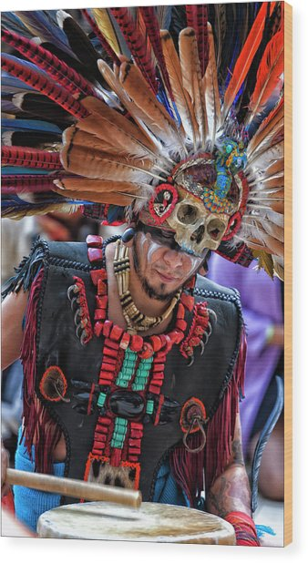 Dia De Los Muertos - Day Of The Dead 10 15 11 Wood Print