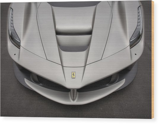 Wood Print featuring the photograph #ferrari #laferrari by ItzKirb Photography