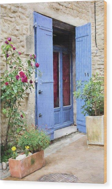 Wood Print featuring the digital art France by Jill Wellington