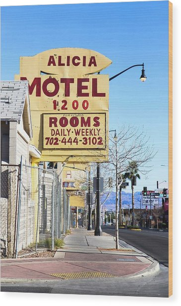 Remnants Of Vintage Vegas Wood Print