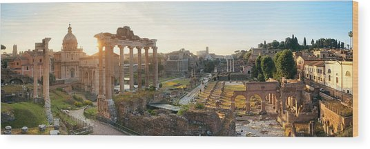Rome Forum  Wood Print by Songquan Deng