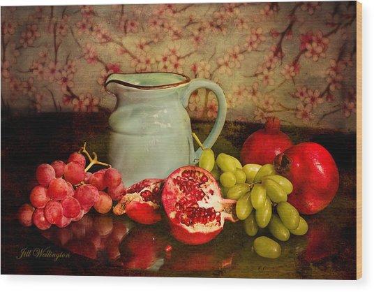 Wood Print featuring the digital art Fall Harvest by Jill Wellington