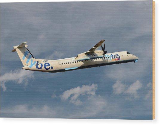 Flybe Bombardier Dash 8 Q400 Wood Print