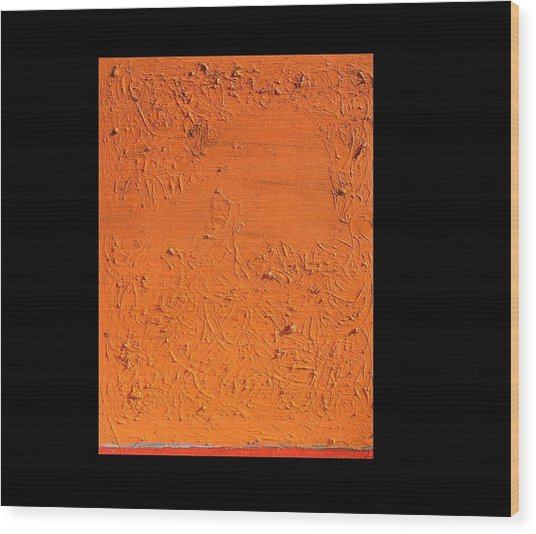 Orange No.11 16 X 20 2010 Wood Print