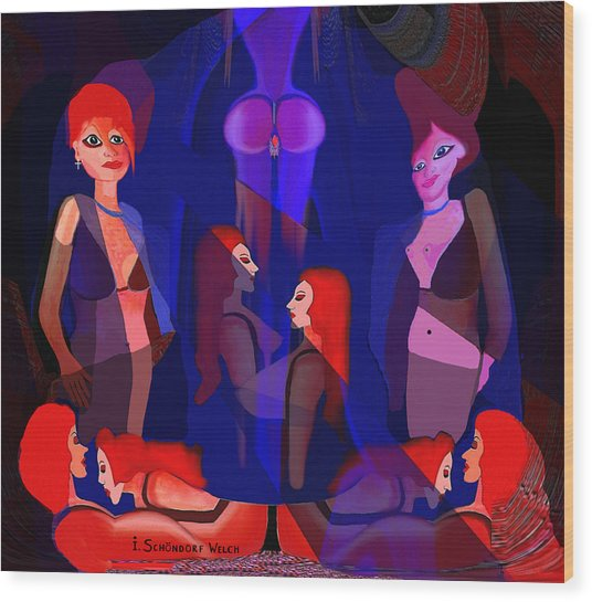 123 In The Harem A Wood Print by Irmgard Schoendorf Welch