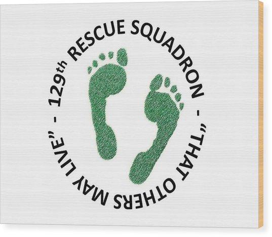 129th Rescue Squadron Wood Print