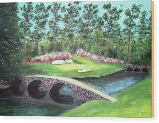 12th Hole At Augusta National Wood Print