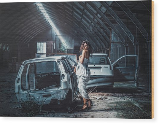 Wood Print featuring the photograph Giulia by Traven Milovich