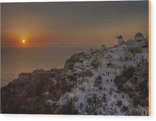 Oia - Santorini Wood Print