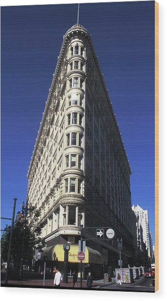 Phelan Building In San Francisco Wood Print by Carl Purcell
