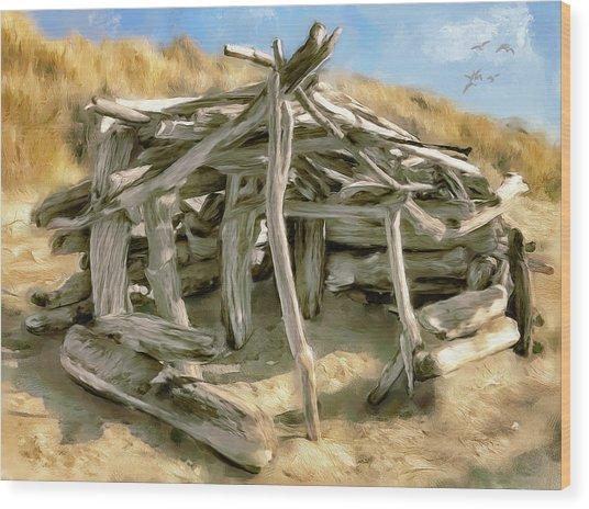 Driftwood Shelter Wood Print