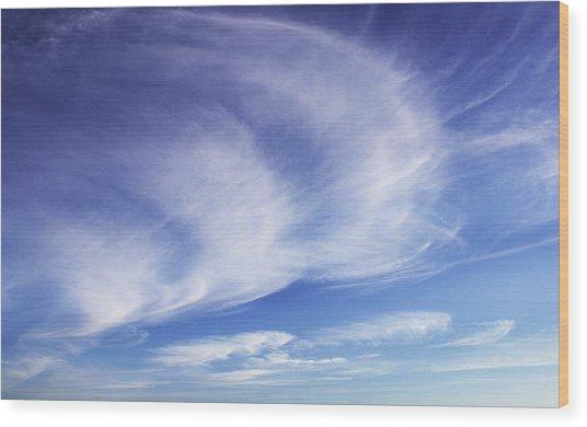 134 - Atmospheric - Cloud Cluster Wood Print by Eric  Copeman