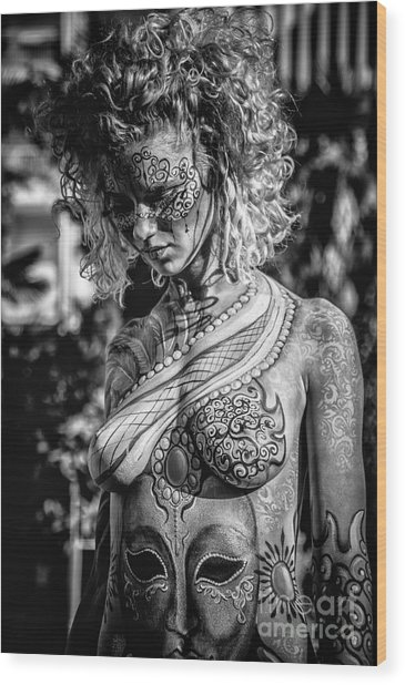 Bodypainting Wood Print