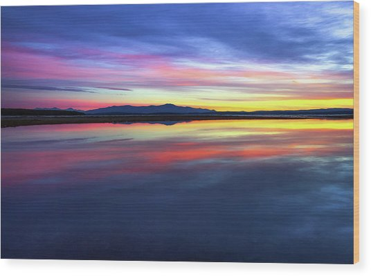 Lake Winnipesaukee - Layers Wood Print