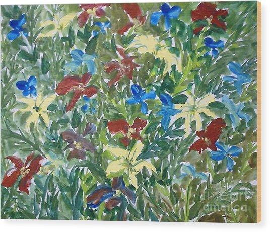 Love Flowers Wood Print by Baljit Chadha