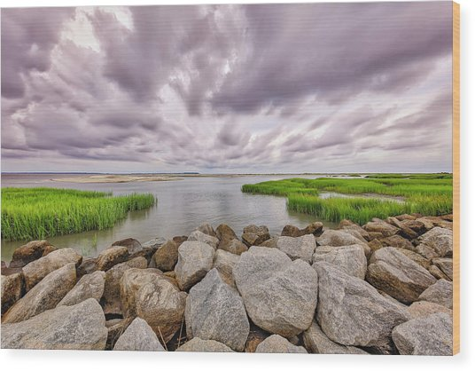 Seascape Of Hilton Head Island Wood Print