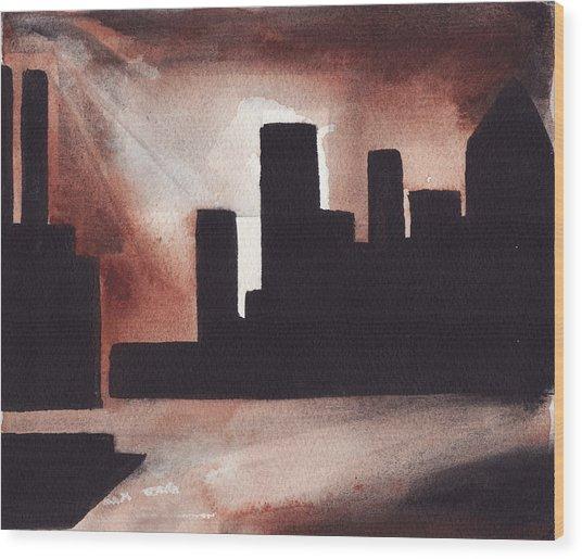 14th St. Con Ed Wood Print