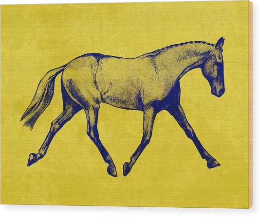 Lengthen Trot Duotone Wood Print by JAMART Photography