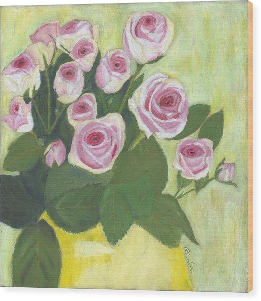 15 Pinks Wood Print