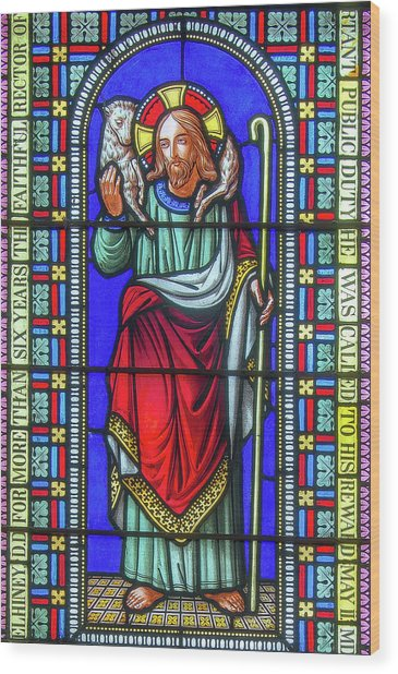 Saint Anne's Windows Wood Print